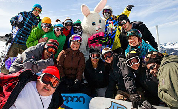 Snowboarding with Bunnies?!