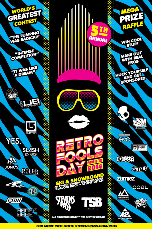 Retro Fools Day V | April 12th at Stevens Pass